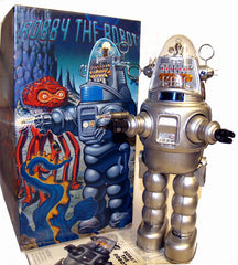 Japan Robby the Robot with Blaster Osaka Tin Toy SILVER