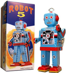 Robot 5 Windup Blue Limited Edition
