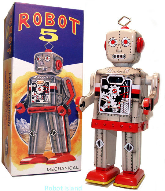 Robot 5 Windup Grey Limited Edition