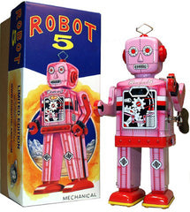 Robot 5 Windup Pink Limited Edition