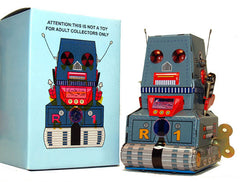 JUST ARRIVED! R-1 Robot Tin Toy Windup Tank