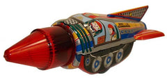 Space Commander Rocket Tin Toy Astronauts