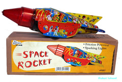 Astronaut Rocket Tin Toy Space Commander NEW!