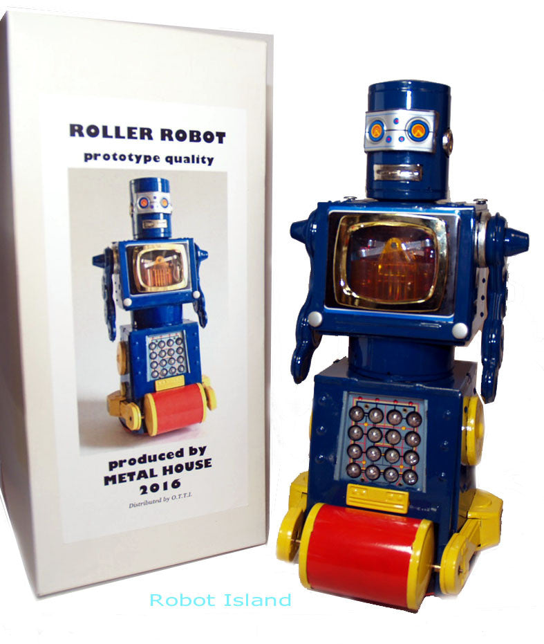Metal House Prototype Roller Robot Tin Toy - SOLD!