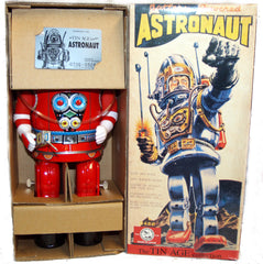 Rosko Robot Osaka Tin Toy Japan Battery Operated Red - SOLD