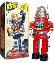 JUST ARRIVED! Red Rosko Robot Osaka Tin Toy Japan Battery Operated