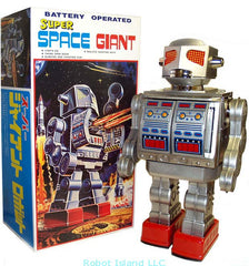 "JUST ARRIVED! Metal House Super Space Giant Tin Toy Battery Operated 16"" Tall"