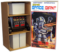 Super Space Giant Robot Japan Metal House Tin Toy Black