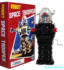 Robby the Robot Space Trooper Windup Large Black