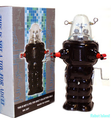 Robby the Robot Space Trooper Crank Wind 1950's Version black