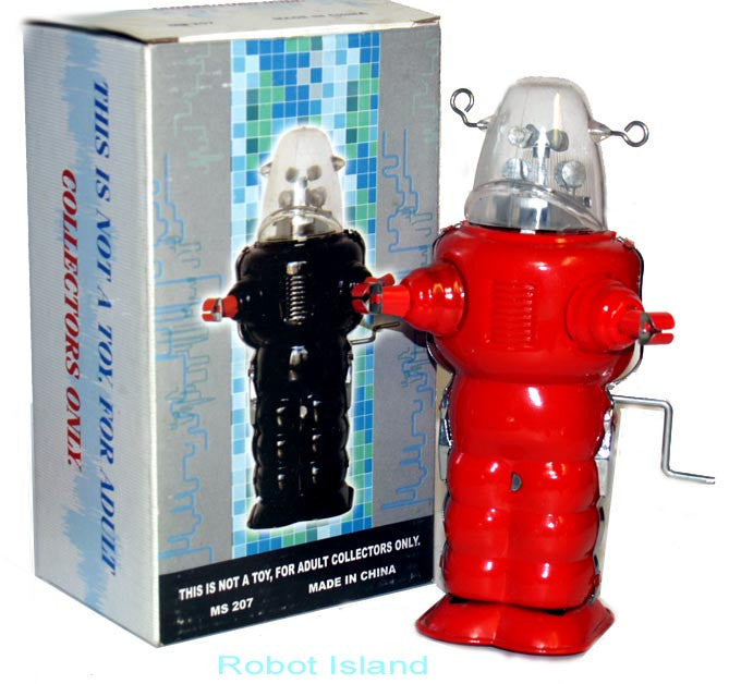 Robby the Robot Space Trooper Red Crank Wind 1950's Version