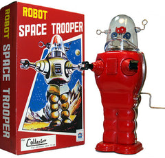 Robby the Robot Space Trooper Windup Red