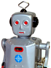 Sparkling Mike Tin Toy Windup Robot