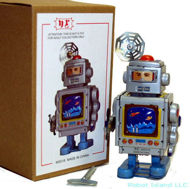 Horikawa Style Television Spaceman Robot Tin Toy Windup