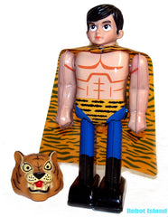 Tiger Mask Robot Japan Character Superhero Tin Toy Windup