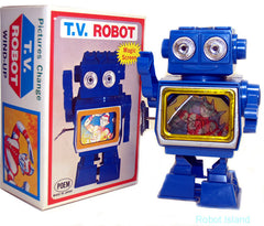 Blue TV Robot Horikawa Japan Windup Ultraman