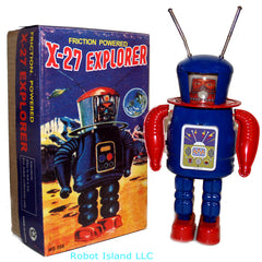 Astronaut NASA X-27 Explorer Windup Robot Space Toy