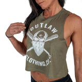 Green Outlaw Clothing Co. Skull Flowy Crop