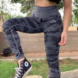 Black Camouflage Seamless Leggings