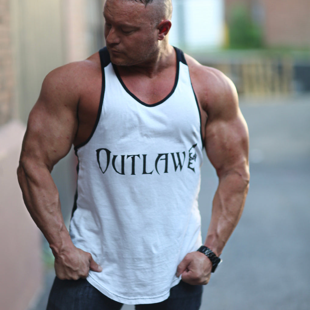 Men's Outlaw White/Black Y back