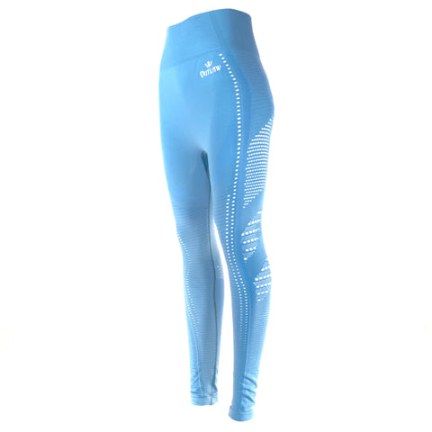 Seamless Workout Leggings (Blue)