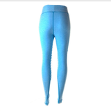 Medium Waisted Moto Leggings (Blue)