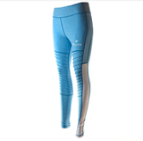 High Waisted Moto Leggings (Blue)