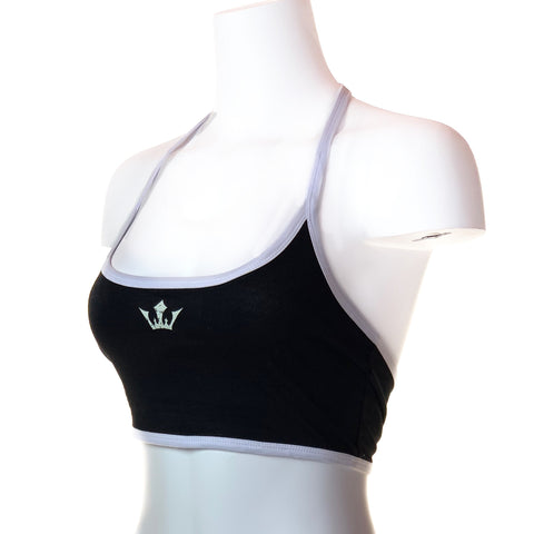 Women's Outlaw Halter Crop Top (Black)