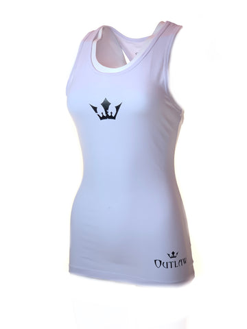 Women's Outlaw Racerback Tank Top (White)