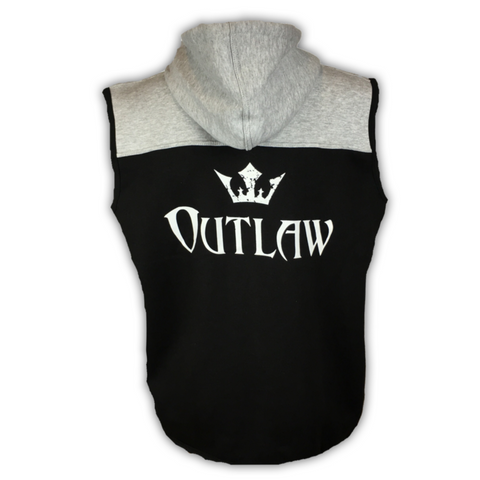Men's Outlaw Sleeveless Zip Up Sport Fit Hoodie
