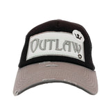 Outlaw Vintage Distressed Trucker Cap - Tan