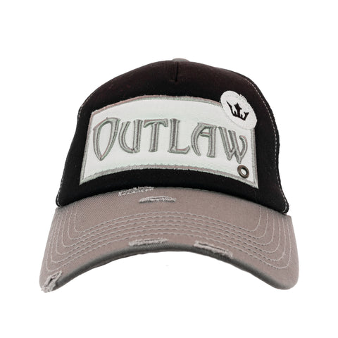 Outlaw Vintage Distressed Trucker Cap