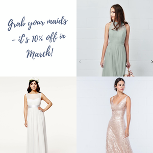 Grab Your Girls, It's Bridesmaid Month at Icon Bridal!