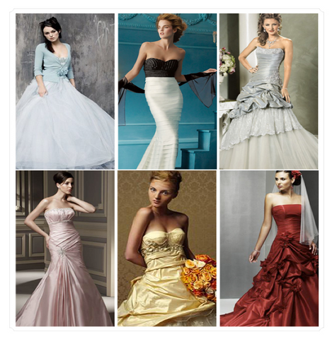 5 Vivacious Alternative Colours for Wedding Gown