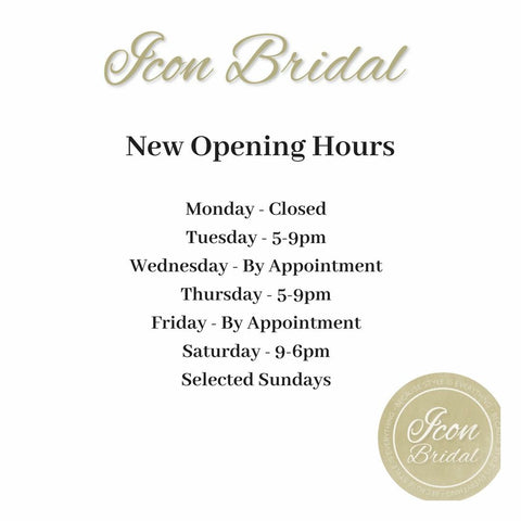 Icon Bridal Opening Hours