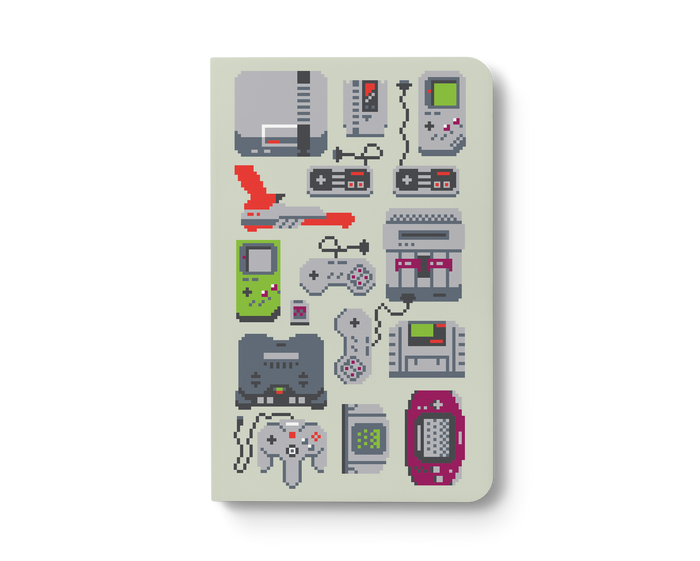 A Pixel of My Childhood Layflat Notebook