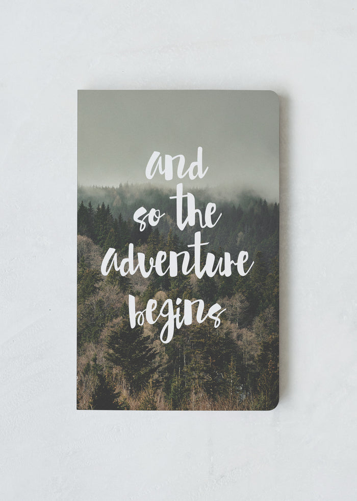 The Adventure Begins Layflat Softcover Notebook