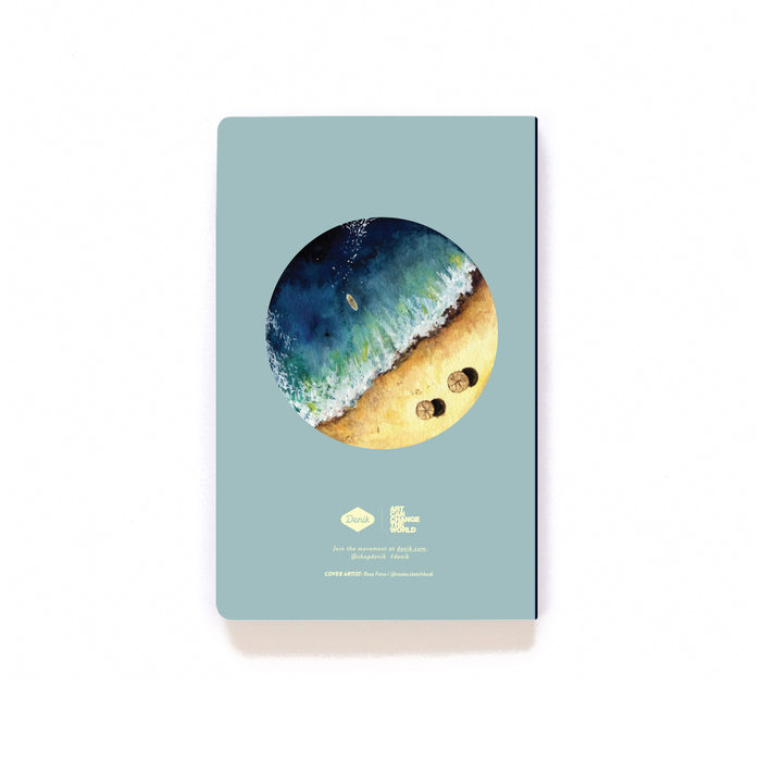 Aerial Beach Softcover Notebook