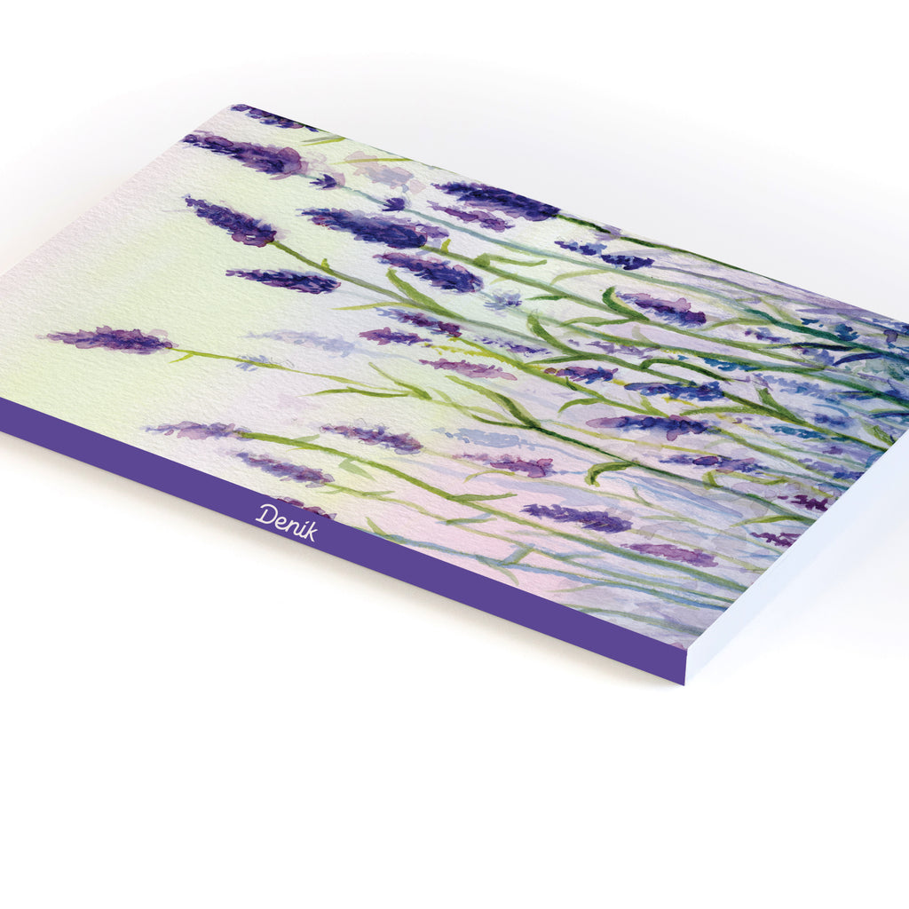 Lavender Field Softcover Notebook