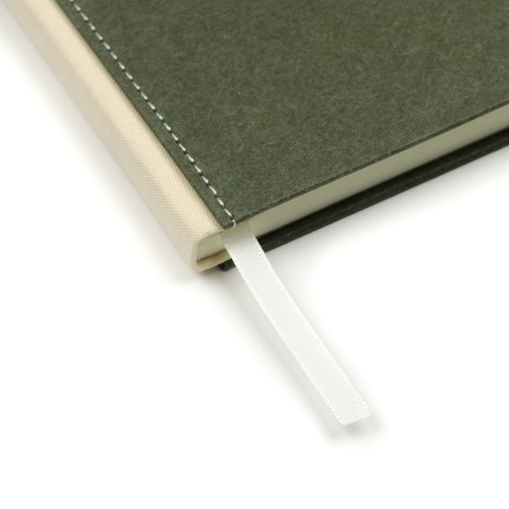 Olive Keep Record Canvas Hardbound Lined Journal