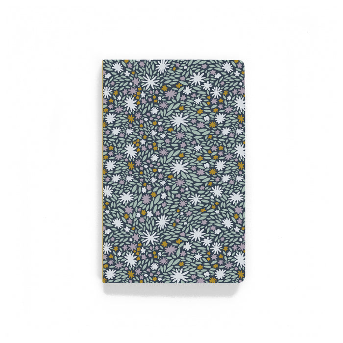 Leaves And Flowers Softcover Notebook