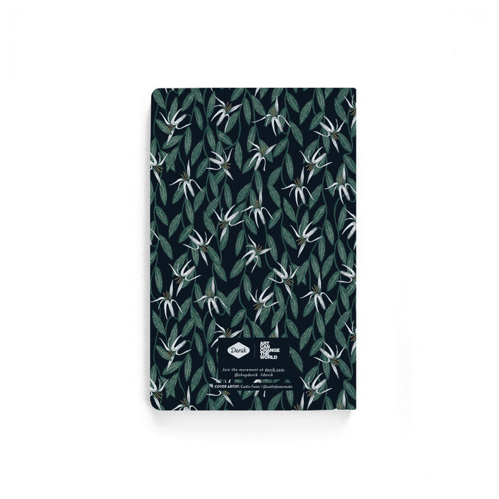 Retro Lilies Softcover Notebook