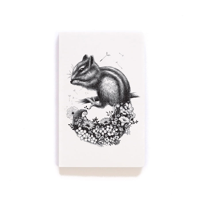 Chipmunk & Wildflowers Layflat Softcover Notebook