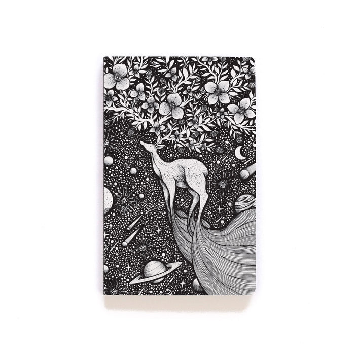 Deer In Space Layflat Softcover Notebook