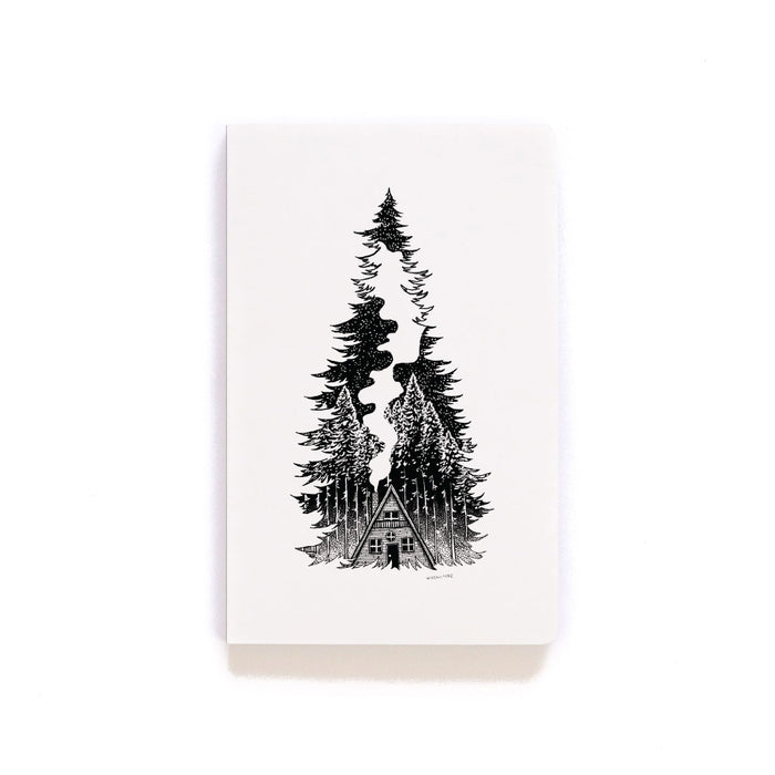 Fir Cabin Softcover Notebook
