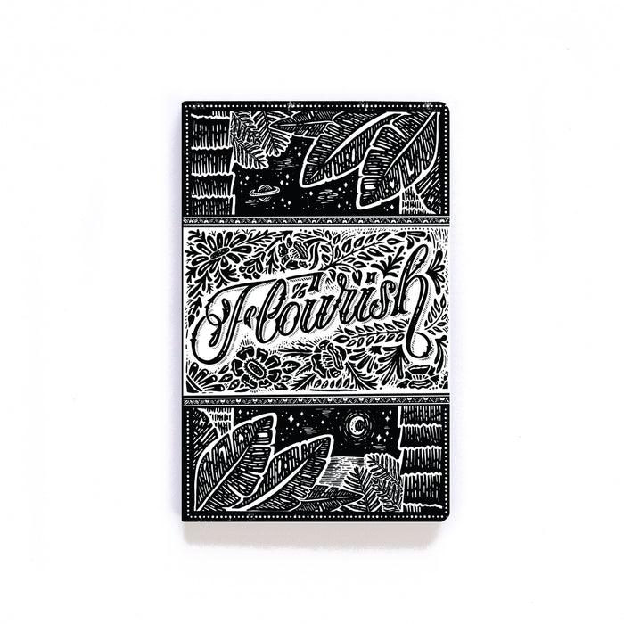 Flourish BW Softcover Notebook