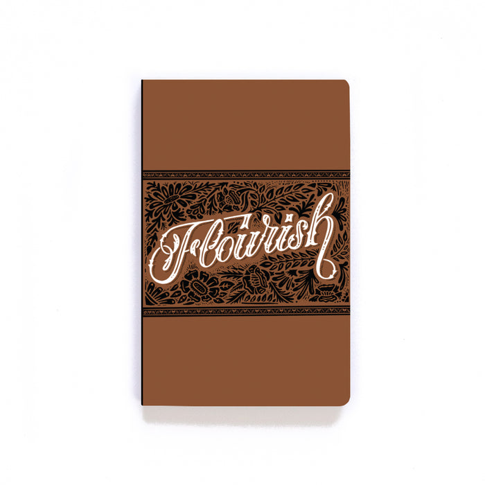 Flourish Brown Softcover Notebook