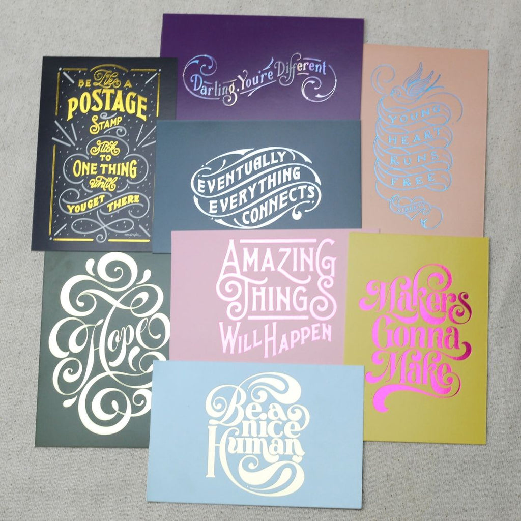 Hand Lettering Postcard Book - 15 Count