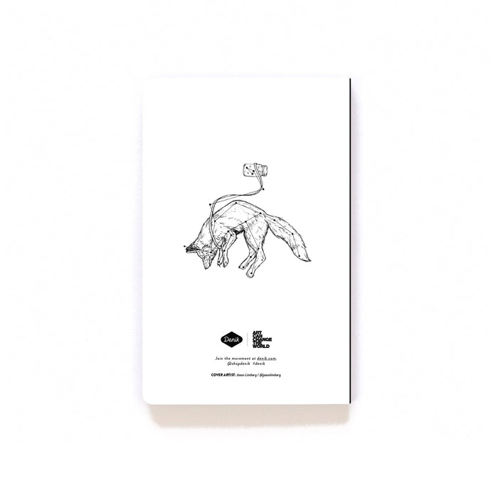 Fox Constellation Softcover Notebook