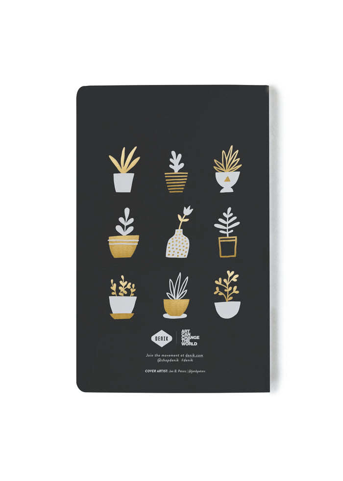 Gold Plants Layflat Notebook